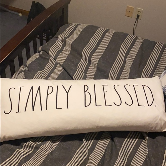 Rae Dunn Feather Down Pillow - Simply Blessed